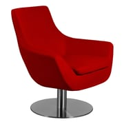 Aeon Furniture Euro Home Brett Lounge Chair; Wool - Red
