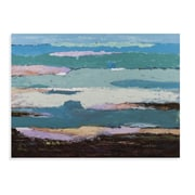 Bassett Mirror Thouroughly Modern Heather Landscape Original Painting on Canvas