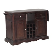 Powell Alton Kitchen Island; Dark Cherry