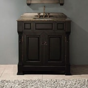 James Martin Furniture Brookfield 36'' Single Vanity Base; Antique Black