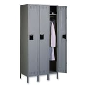 Tennsco Single-Tier Locker, 36''x18''x78'', Medium Gray