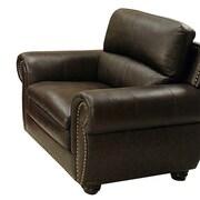 Abbyson Living Ridgecrest Top Grain Leather Armchair