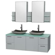 Wyndham Collection Amare 60'' Double Bathroom Vanity Set with Mirror