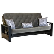 Big Tree Furniture Farrow Futon Frame and Mattress with 3 Pillows