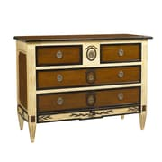 French Heritage French Accents 4 Drawer Chest; Natural / Brown