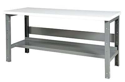 Parent Metal Products Height Adjustable Steel Workbench; 34.75'' H x 60'' W x 29'' D