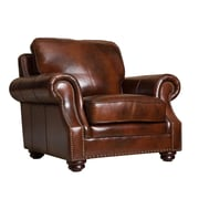 Abbyson Living Karington Hand Rubbed Leather Armchair