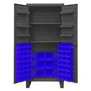 Durham Manufacturing 78'' H x 36'' W x 24'' D Lockable Cabinet; Blue