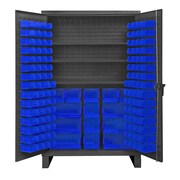 Durham Manufacturing 78'' H x 48'' W x 24'' D Lockable Cabinet; Blue