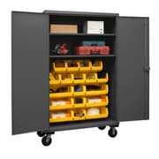Durham Manufacturing 80'' H x 48'' W x 24'' D Lockable Mobile Cabinet; Yellow