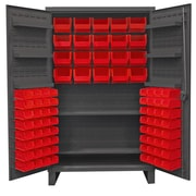 Durham Manufacturing 78'' H x 48'' W x 24'' D Lockable Cabinet; Red