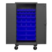 Durham Manufacturing 80'' H x 36'' W x 24'' D Lockable Mobile Cabinet; Blue