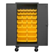 Durham Manufacturing 80'' H x 36'' W x 24'' D Lockable Mobile Cabinet; Yellow