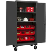 Durham Manufacturing 80'' H x 36'' W x 24'' D Lockable Mobile Cabinet; Red