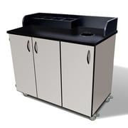 Amcase Mobile Condiment Cart with Wastebin Storage; Folkstone