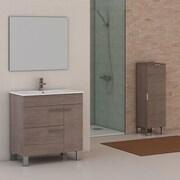 Eviva Cup  31.5'' Single Modern Bathroom Vanity Set; Medium Oak