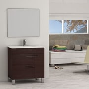 Eviva Cup  31.5'' Single Modern Bathroom Vanity Set with Mirror; Wenge