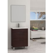 Eviva Cup  24'' Single Modern Bathroom Vanity Set with Mirror; Wenge