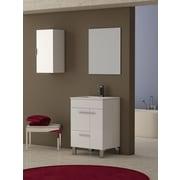 Eviva Cup  24'' Single Modern Bathroom Vanity Set; White