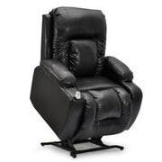 Med-Lift Showtime Wide Wall-a-Way Reclining Lift Chair; Black