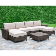 Creative Living Palm Cove 7 Piece Deep Seating Group with Cushions