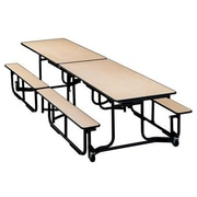 KI Furniture Uniframe 60'' x 139.5''  Rectangular Cafeteria Table; Kensington Maple