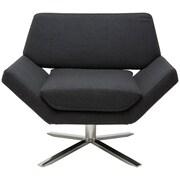 Nuevo Sly Lounge Chair; Dark Grey