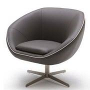 VIG Furniture Divani Casa Willow Leather Swivel Lounge Chair