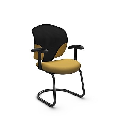 Global® (1953 IM73) Tye Guest & Reception Chair, Imprint Currie Fabric, Yellow