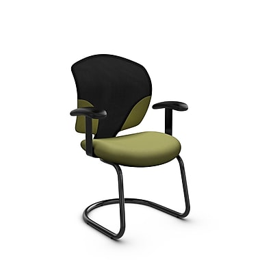 Global® (1953 IM78) Tye Guest & Reception Chair, Imprint Celery Fabric, Green
