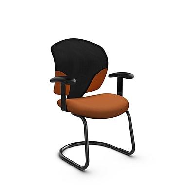 Global® (1953 IM81) Tye Guest & Reception Chair, Imprint Paprika Fabric, Orange