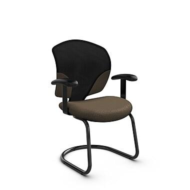 Global® (1953 MT21) Tye Guest & Reception Chair, Match Sand Fabric, Brown