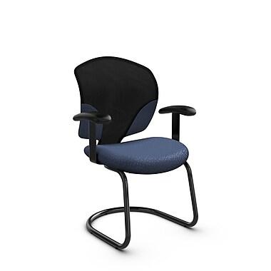 Global® (1953 MT25) Tye Guest & Reception Chair, Match Blue Fabric, Blue