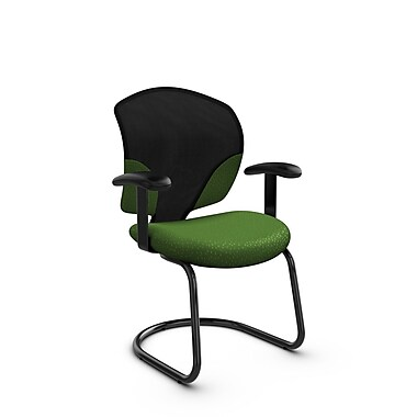Global® (1953 MT27) Tye Guest & Reception Chair, Match Green Fabric, Green