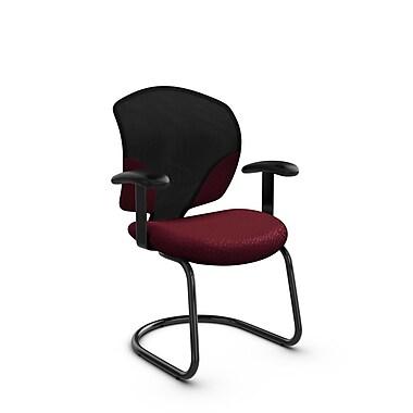 Global® (1953 MT29) Tye Guest & Reception Chair, Match Burgundy Fabric, Red