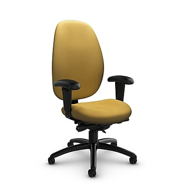 Global® (3140-0 IM73) Malaga High Back Synchro Tilter, Imprint Currie Fabric, Yellow