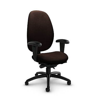 Global® (3140-0 IM80) Malaga High Back Synchro Tilter, Imprint Walnut Fabric, Brown