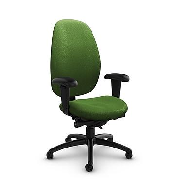 Global® (3140-0 MT27) Malaga High Back Synchro Tilter, Match Green Fabric, Green