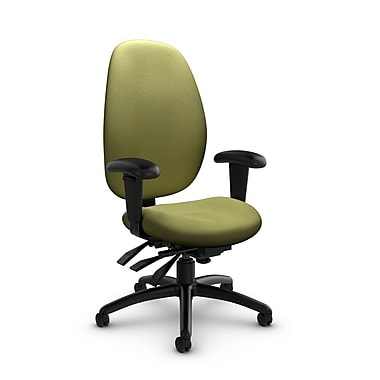Global® (3140-3 IM78) Malaga High Back Multi Tilter, Imprint Celery Fabric, Green