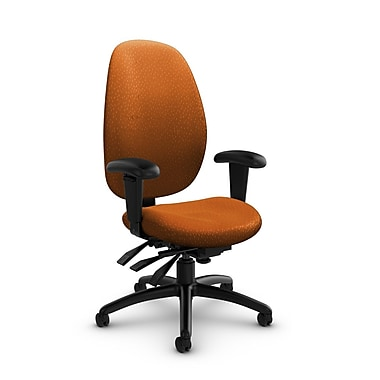 Global® (3140-3 MT23) Malaga High Back Multi Tilter, Match Orange Fabric, Orange