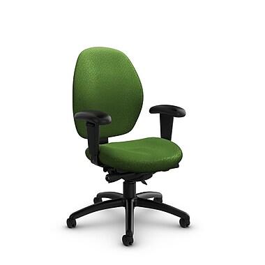 GlobalMD – Fauteuil à dossier bas et à inclinaison synchro Malaga (3141-0 MT27), tissu assorti vert, vert