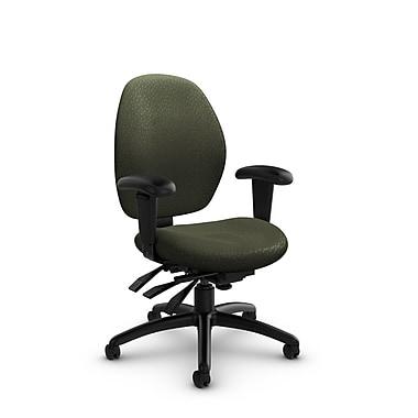 Global® (3141-3 MT22) Malaga Low Back Multi Tilter, Match Moss Fabric, Green