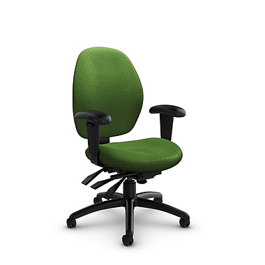 Global® (3141-3 MT27) Malaga Low Back Multi Tilter, Match Green Fabric, Green