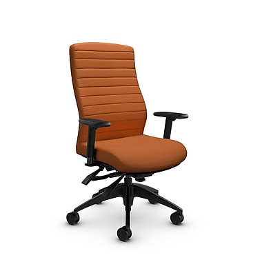 Global® (2851-3 IM81) Aspen High Back Multi Tilter, Imprint Paprika Fabric, Orange