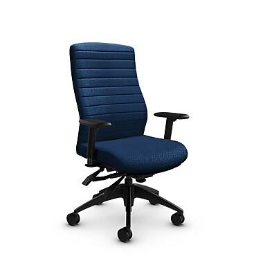 Global® (2851-3 MT26) Aspen High Back Multi Tilter, Match Wave Fabric, Blue