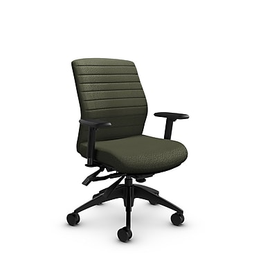 Global® (2852-3 MT22) Aspen Mid Back Multi Tilter, Match Moss Fabric, Green