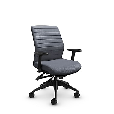 Global® (2852-3 MT30) Aspen Mid Back Multi Tilter, Match Grey Fabric, Grey