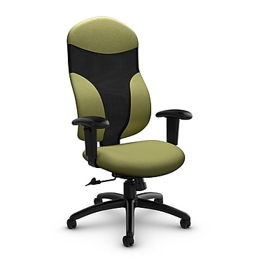 Global® (1950-4 IM78) Tye High Back Tilter, Imprint Celery Fabric, Green