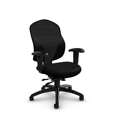 Global® (1951-3 MT32) Tye Mid Back Multi Tilter, Match Black Fabric, Black