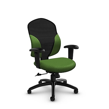 Global® (1951-4 MT27) Tye Mid Back Tilter, Match Green Fabric, Green